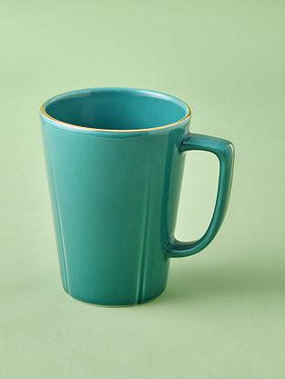 Jade Porcelain Handcrafted Mug (Dia-3.25in ,H-4.25in)