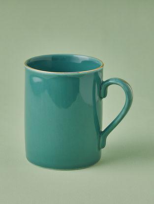 Jade Porcelain Handcrafted Mug (Dia-3.25in ,H-4.1in)