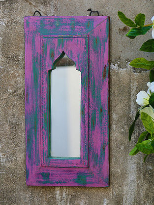 Multicolored Handcrafted Vintage Mirror (L-15.8in, W-8in,H-0.5in)