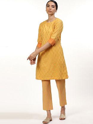 Yellow and Orange Cotton Kurta
