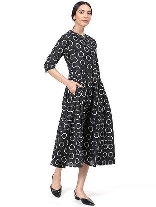 Black Silk Voile Kurta Dress