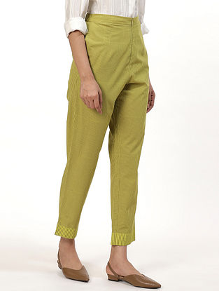 Lime Green Cotton Pant
