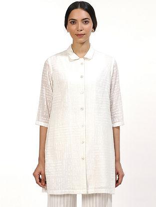 Ivory Cotton Voile Kurta