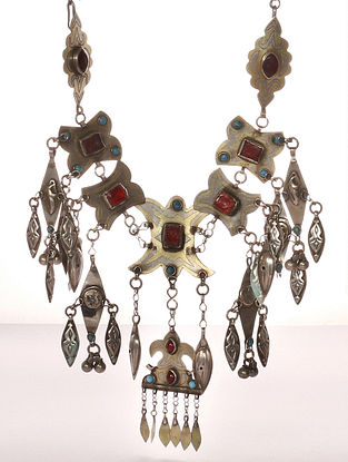 Tribal Silver Afghani Necklace