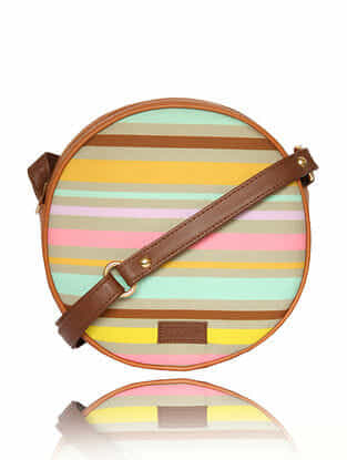 Multicolored Handcrafted Canvas Sling Bag