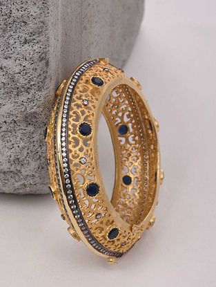 Blue Gold Plated Handcrafted Bangle