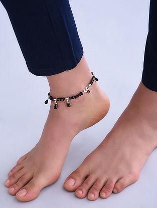 Smoky Quartz Silver Anklet