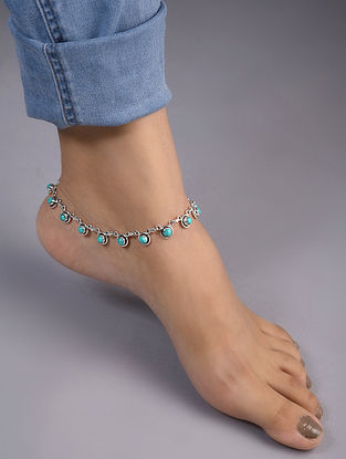 Calcite Silver Anklet