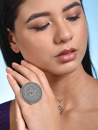 Vintage Silver Adjustable Ring