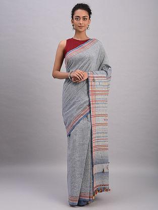 Grey Bhujodi Kala Cotton Saree