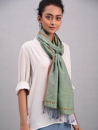 Green Bhujodi Cotton Tussar Silk Stole