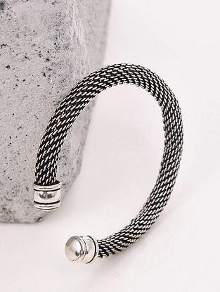 Silver Tone Handcrafted Cuff