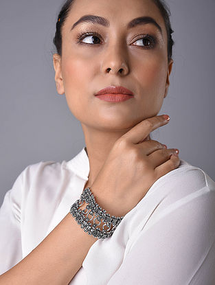 Silver Tone Handcrafted Bracelet