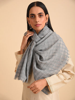 Black Handloom  Tie and Dyed Cotton Scarf