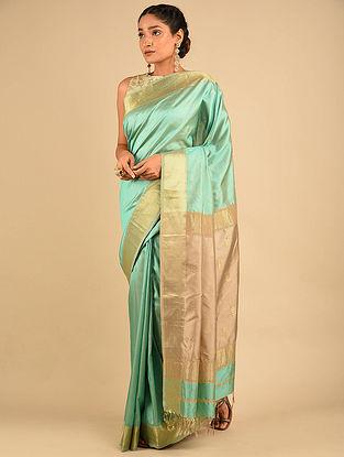 Green Handwoven Maheshwari Silk Saree