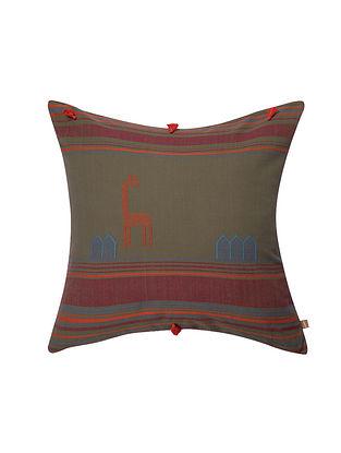 Botswana Lead Grey Cushion Cover (18in x 18in)