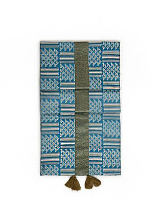 Ubangi Smoke Blue Ikat Table Runner (79in x 14in)