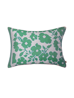 Ivy Yucca Green Ikat Cushion Cover (20in x 14in)