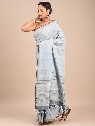 Blue Handwoven Jamdani Cotton Saree