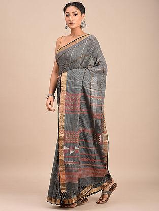 Grey Handwoven Jamdani Cotton Saree
