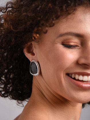 Blue Iolite Silver Earrings