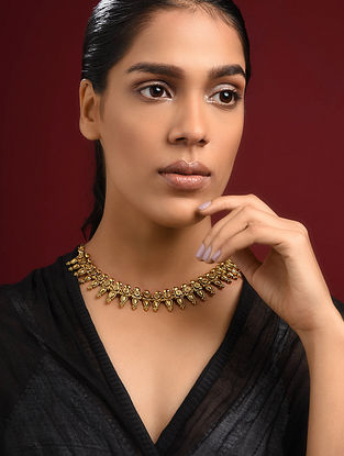 Gold Tone Tribal Necklace