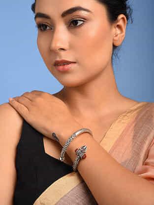 Tribal Silver Bracelet with Rudarakash