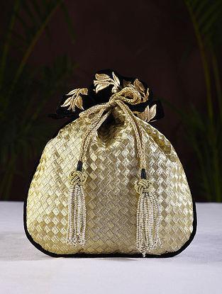 Gold Handcrafted Velvet Potli