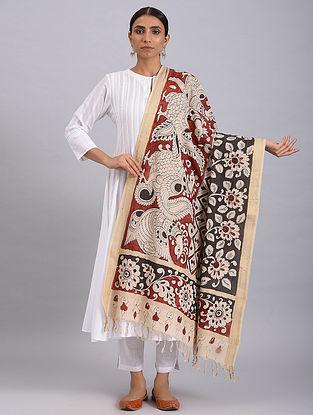 Multicolored Hand Painted Kalamkari Cotton Dupatta