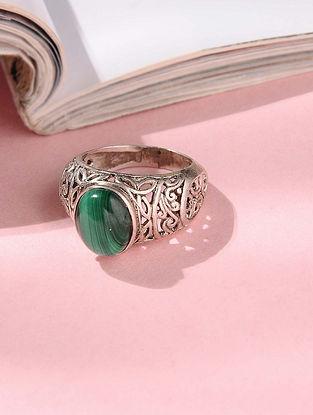 Malachite Silver Ring (Ring Size: 7.5)