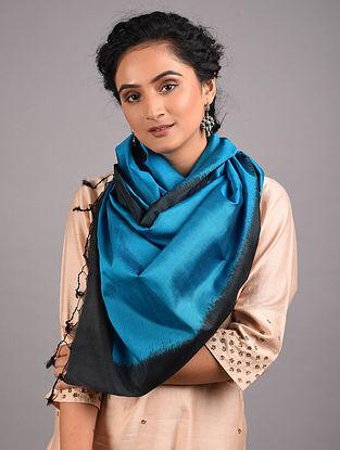 Blue-Black Handwoven Sambalpuri Ikat Silk Stole