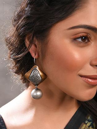 Dual Tone Vintage Inspired Silver Earrings