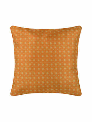 Orange Digital Printed Silk Cushion Cover (20in X 20in)