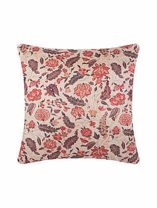 Multicolor Digital Printed Chanderi Cushion Cover (20in X 20in)
