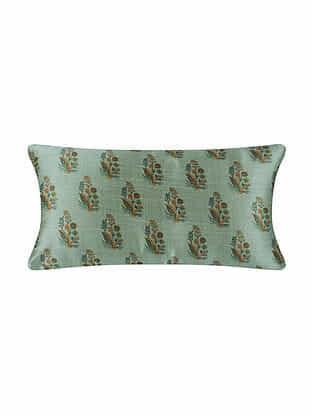 Multicolor Digital Printed Chanderi Cushion Cover (20in X 10in)