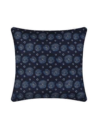 Blue Digital Printed Silk Cushion Cover (20in X 20in)