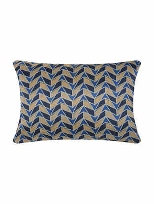 Multicolor Digital Printed Silk Cushion Cover (20in X 14in)