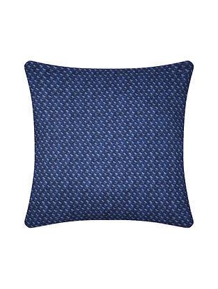 Indigo Digital Printed Chanderi Cushion Cover (20in X 20in)