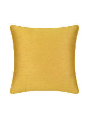 Yellow Silk Cushion Cover (16in X 16in)