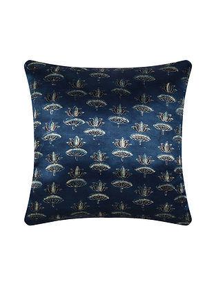 Indigo Modal Satin Cushion Cover (16in X 16in)