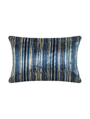 Indigo Modal Satin Cushion Cover (20in X 12in)
