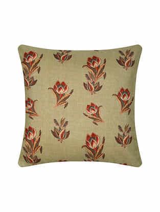 Multicolor Digital Printed Silk Cushion Cover (16in X 16in)