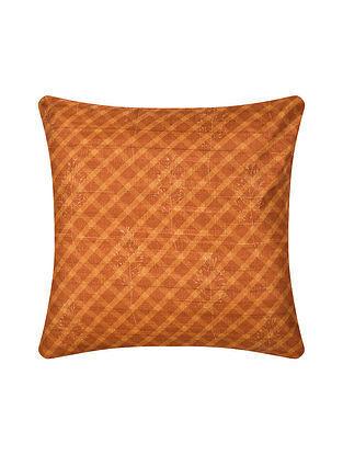 Orange Digital Printed Silk Cushion Cover (16in X 16in)