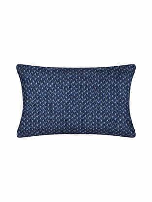 Blue Digital Printed Chanderi Cushion Cover (20in X 12in)
