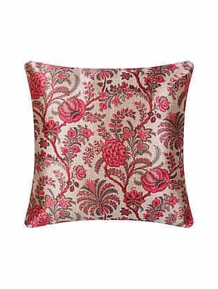 Multicolor Digital Printed Chanderi Cushion Cover (16in X 16in)