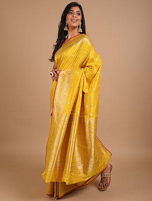Yellow Handwoven Benarasi Silk Saree