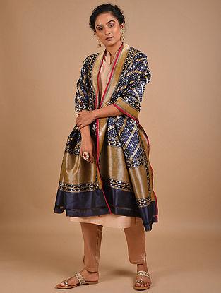 Blue Handwoven Benarasi Silk Dupatta