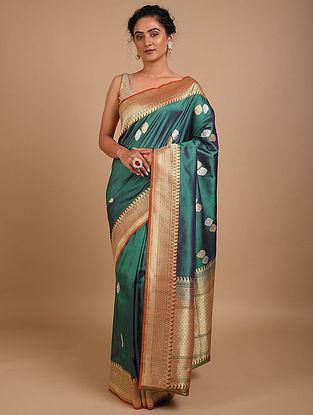 Green Handwoven Benarasi Silk Saree