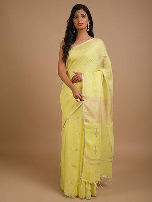 Yellow Handwoven Linen Saree
