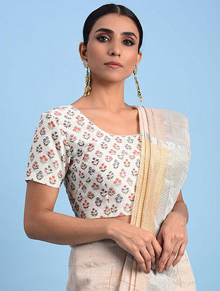 Multicolored Printed Chanderi Blouse